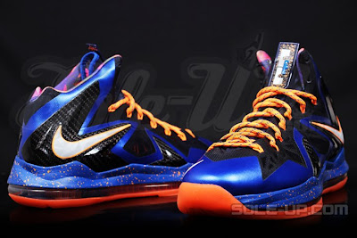 nike lebron 10 ps elite blue black 1 02 Nike LeBron X P.S. Elite Superhero   New Photos