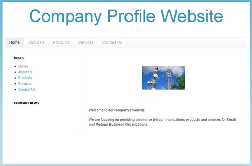create company profile website using blogger blogpot blog 01