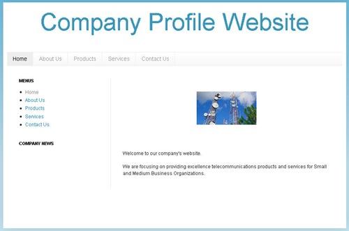 create company profile website using blogger blogpot blog 01