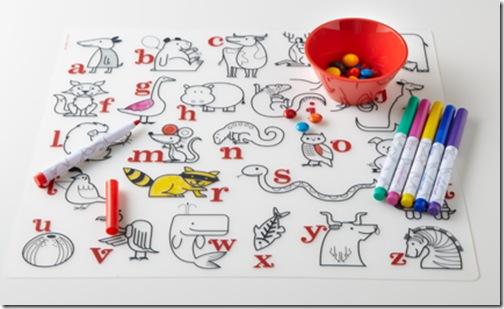 modern-twist alphabet mat