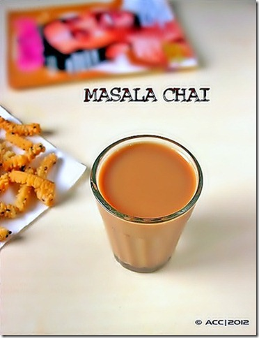 masala tea glass