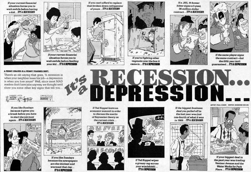 It's a recession 1