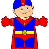 RECORTABLE SUPER HEROE