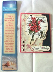 AAWA Birthday club Liane bookmark card