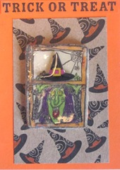 atc witch in the window clay piece