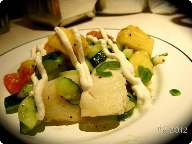 Cod and pineapple salad