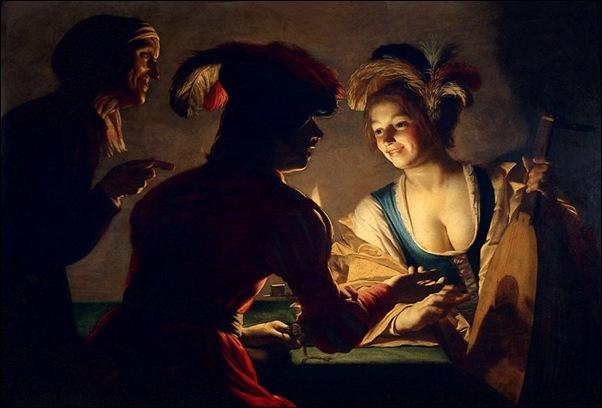 Gerrit Van Honthorst, L'entremetteur 1625