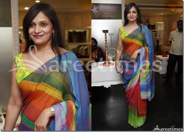 Multicolor_Georgette_Saree