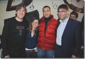 Juan Pablo de Jesús junto a Amado Boudou, Diego Bossio y Fernanda Raverta