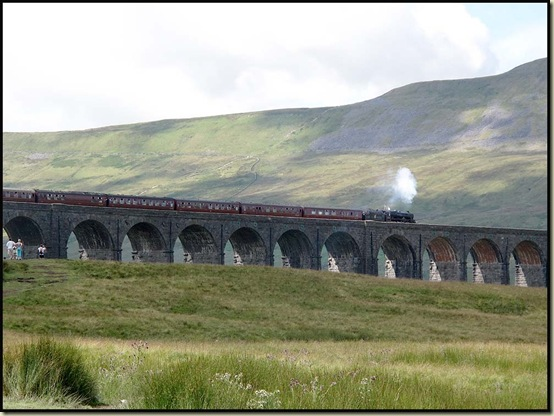 Steam train at Ribblehead