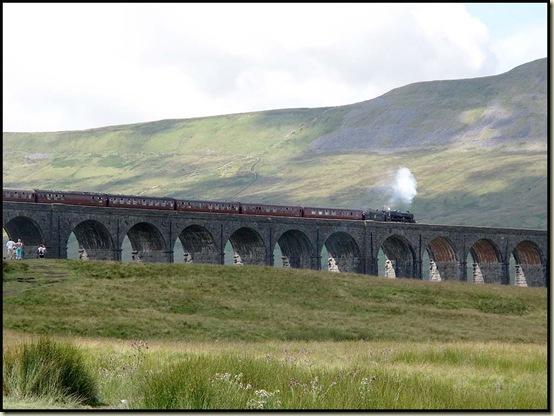 Steam train at Ribblehead