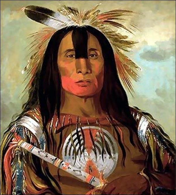 Karl Bodmer, Portrait d'indien