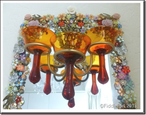 Jewelled Mirrors Upcycled 1