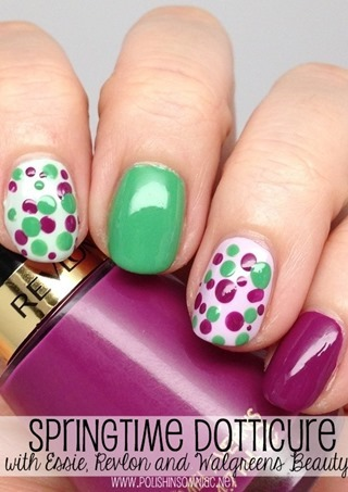 Springtime Dotticure with Essie and Revlon! #WalgreensBeauty #shop #cbias