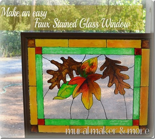 faux stain glass window tutorial