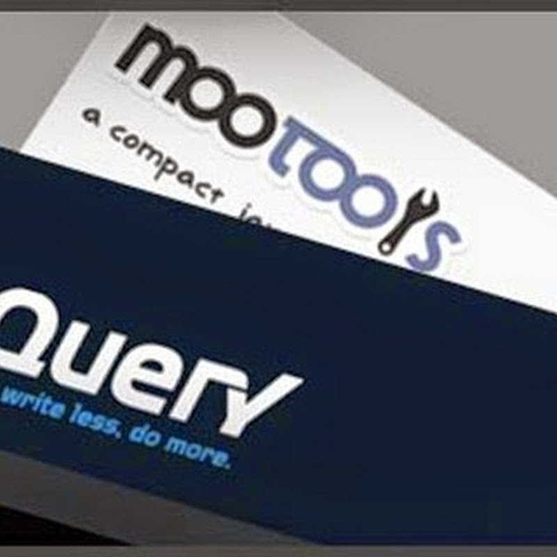 JQuery vs. MooTols: il motto dice tutto, apprendimento e comunity.