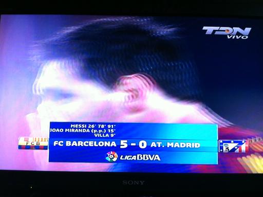 Otra manita y Hat-Trick de Lio Messi, FC Barcelona 5-0 At. Madrid