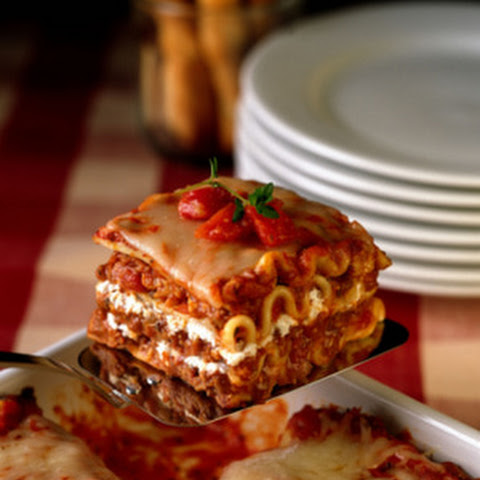 Basic Lasagna with Meaty Sauce