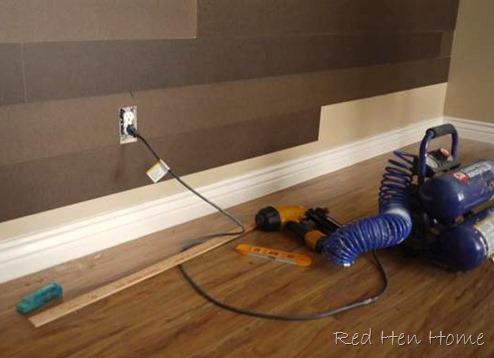 hardboard plank planked wall faux