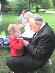 6.25.11 Kyle with Grampa Harju