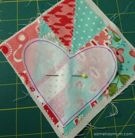 Scrappy Heart Pin Cushion 2