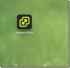 iPad vSphere Client