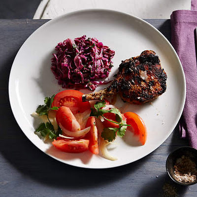 Indian Spiced Pork With Mustard Seed Red Cabbage