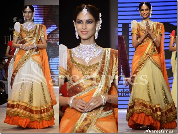 Vaani_Kapoor_Orange_White_Half_Saree(1)