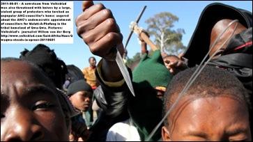 QwaQwa antiANC protestors threaten white journalists June32011
