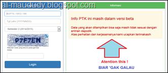 Info PTK Versi Beta