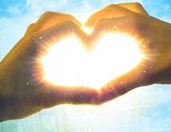 Peace-hand-heart-light