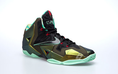 nike lebron 11 gr army slate 9 02 parachute gold Nike LeBron XI is Coming out on October 12th. New pics!