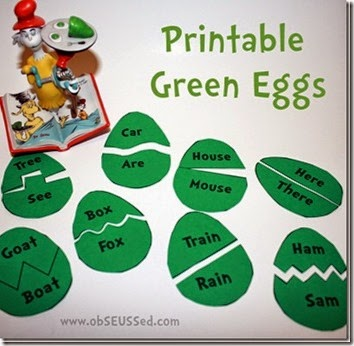 green eggs and ham matching game printable obSEUSSed