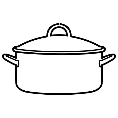 Dibujos de olla para colorear imagui for Cocina dibujo