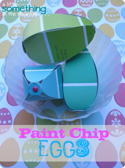 Paint Chip Eggs Easter Egg Background