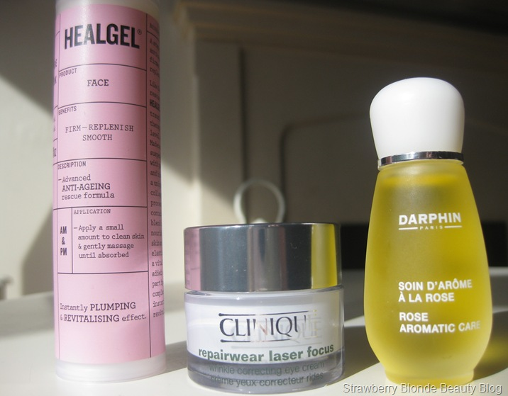 Healgel-Face-Clinique-Repairwear-Laser-Eye-Darphin-rose-aromatic-care