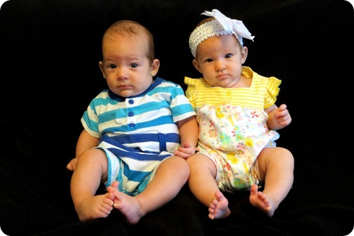 Liberty & Nehemiah at 3 months