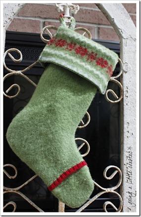 wool sweater stocking