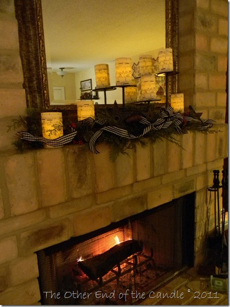 Christmas Mantle with Music Candles