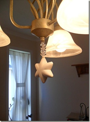 star ornament hanging
