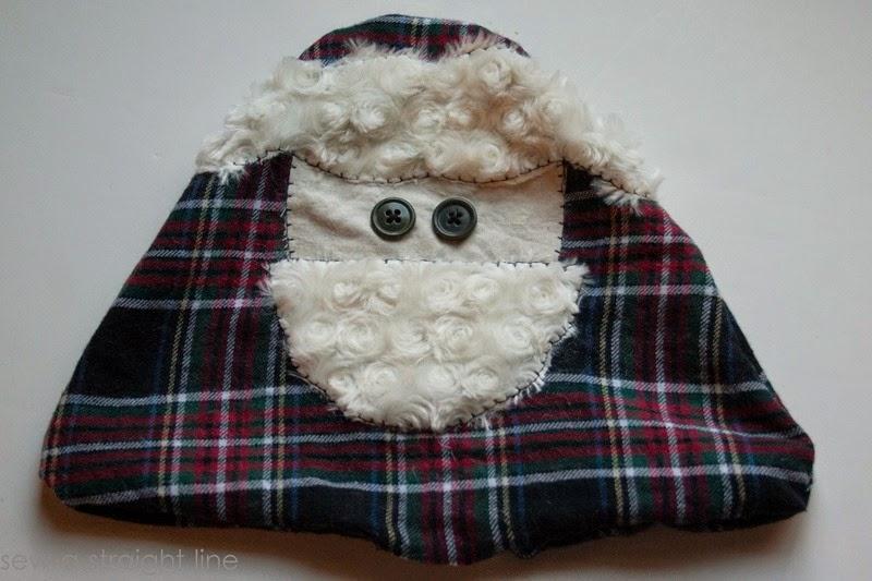 santa face pillows sew a straight line-7