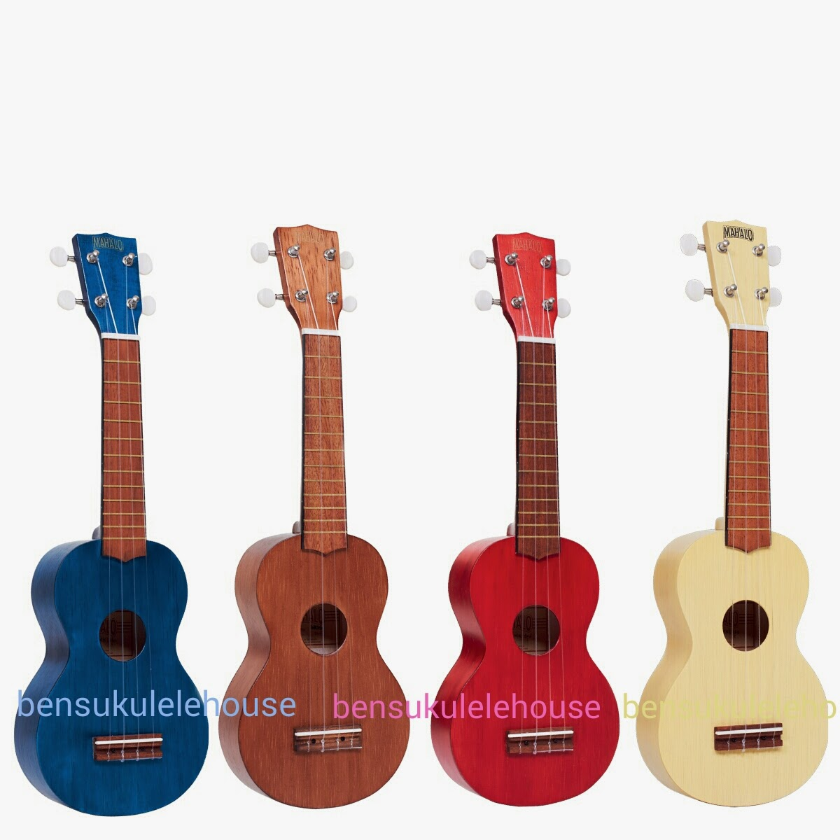 Ben 39 s ukulele house new mahalo soprano ukulele mk1 for Housse ukulele