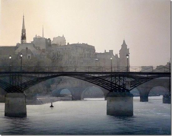 4 Le pont des Arts 80 x 100cm