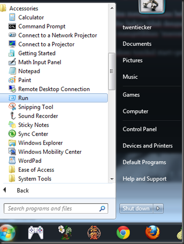 how to run msconfig on window 7