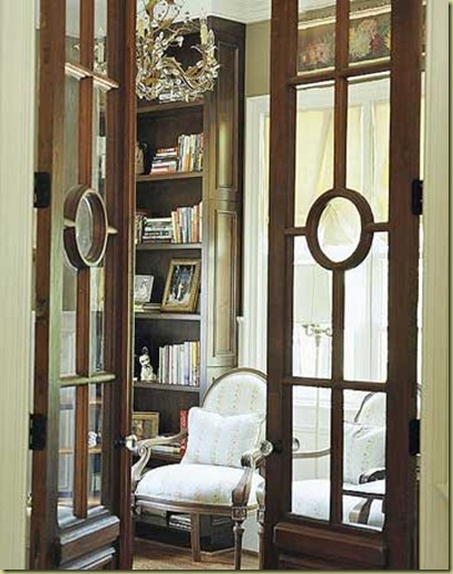 Decorative glass French Door