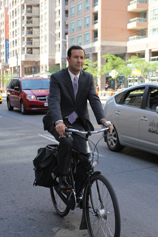 Lawyer Ian Flett on his Pashley bicycle