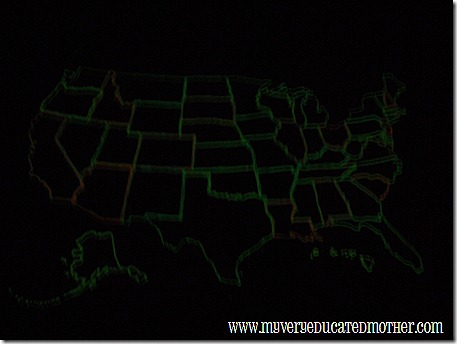 @mvemother Glowing Puffy Paint Map