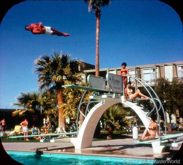 View-Master Las Vegas Nevada A159 Scene 2-3 Riviera Pool