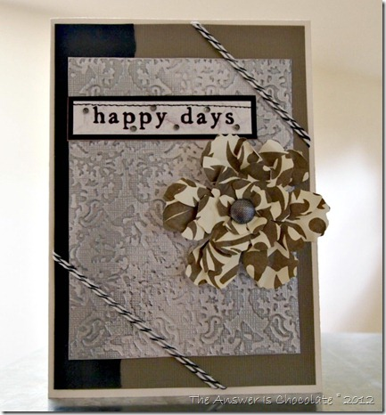 Damask Cards Happy Days