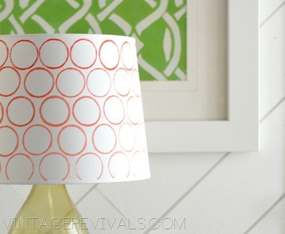 Toilet Paper Roll Stamped Lampshade